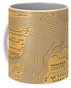 Printed Circuit Coffee Mug by Michal Boubin