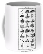 Printers Cuts, 1825 Coffee Mug