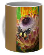 Protea With Speckled Butterfly Coffee Mug