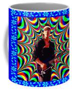 Psychedelia Within A Blue Framework Coffee Mug