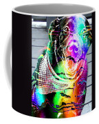 Psychedelic Black Lab With Kerchief Coffee Mug