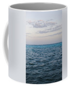 Puffy Clouds On Horizon With Caribbean Coffee Mug
