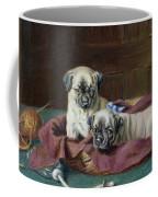 Pug Puppies In A Basket Coffee Mug