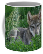 Pup In The Grass Coffee Mug