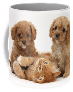 Puppies And Kitten Coffee Mug