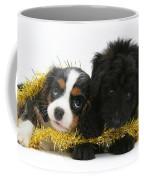 Puppies With Tinsel Coffee Mug