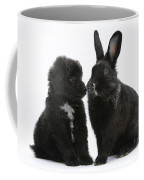 Puppy And Rabbit Coffee Mug