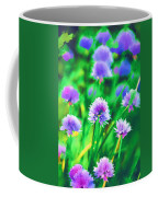 Purple And Green Chive Watercolor Coffee Mug