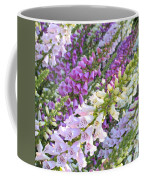 Purple And White Foxglove Square Coffee Mug