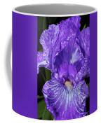 Purple And White Stiped Iris Coffee Mug