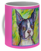 Purple Boston Terrier Coffee Mug