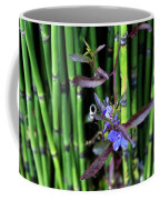 Blue Bursts From Bamboo Coffee Mug