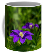 Purple Clematis Flower Coffee Mug