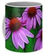 Purple Coneflower Trio Coffee Mug