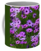 Purple Daisies Square Coffee Mug