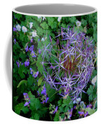Purple Flower Sphere Coffee Mug