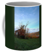 Purple Foot And Autumn Leaves Coffee Mug