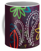 Purple Paisley Garden Coffee Mug