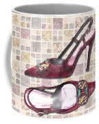 Purple Pumps On Terrazzo Tiles Coffee Mug
