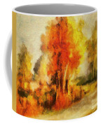 Purple Smoke Tree Coffee Mug