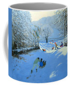 Pushing The Sledge Coffee Mug by Andrew Macara