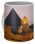 Pyramids Of Giza With The Great Sphinx Coffee Mug by Richard Nowitz