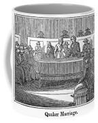 Quaker Marriage, 1842 Coffee Mug