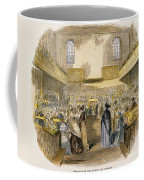 Quaker Meeting, 1843 Coffee Mug