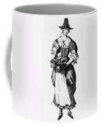 Quaker Woman, 17th Century Coffee Mug
