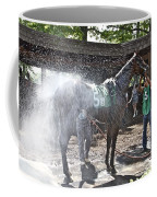 Quick Shower Before The Race Coffee Mug