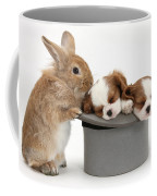 Rabbit And Spaniel Pups Coffee Mug