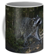 Racoon Emerging From The Woods Coffee Mug