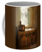 Radio And Camera On Old Trunk Coffee Mug