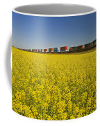Rail Cars Carrying Containers Passe Coffee Mug