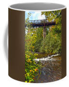 Railroad Bridge 7827 Coffee Mug by Michael Peychich