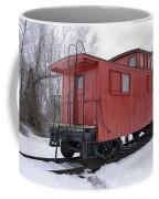 Railroad Train Red Caboose Coffee Mug