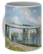 Railway Bridge At Argenteuil Coffee Mug