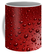 Rain Drops Bloody Red  Coffee Mug