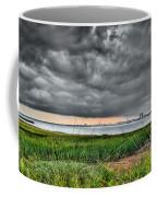 Rain Rolling In On The River Coffee Mug