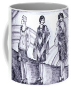 Rainbow 1920s Fashions Coffee Mug