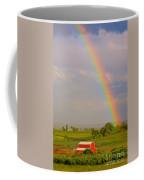 Rainbow And Red Barn Coffee Mug