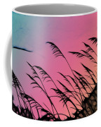 Rainbow Batik Sea Grass Gradient Silhouette Coffee Mug