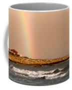 Rainbow By The Sea Coffee Mug by Stelios Kleanthous