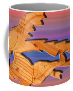 Rainbow Dinosaur Fish Coffee Mug by Robert Margetts