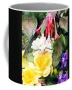 Rainbow Flower Basket Coffee Mug