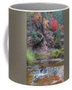 Rainbow Of The Season And River Over Rocks Coffee Mug by Heather Kirk