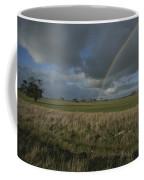 Rainbow Over Fields At Kangaroo Island Coffee Mug