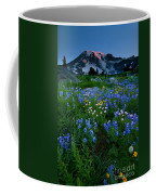 Rainier Wildflower Dawn Coffee Mug by Mike  Dawson