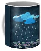 Rainy Day With Umbrella Coffee Mug by Setsiri Silapasuwanchai