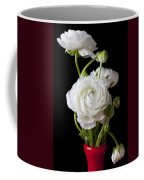 Ranunculus In Red Vase Coffee Mug by Garry Gay